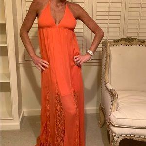 Alice + Olivia orange maxi dress